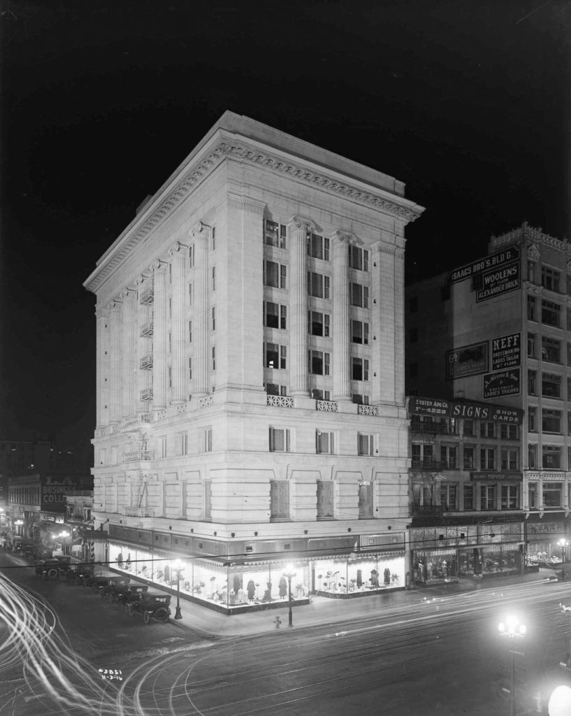 The Merritt Building in 1916, just one year after it opened.