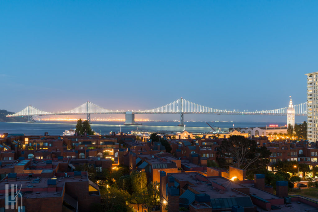 Bay Bridge Twilight San Francisco
