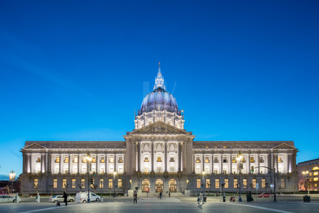 San Francisco City Hall Twilight by Architectural Photographer Hunter Kerhart