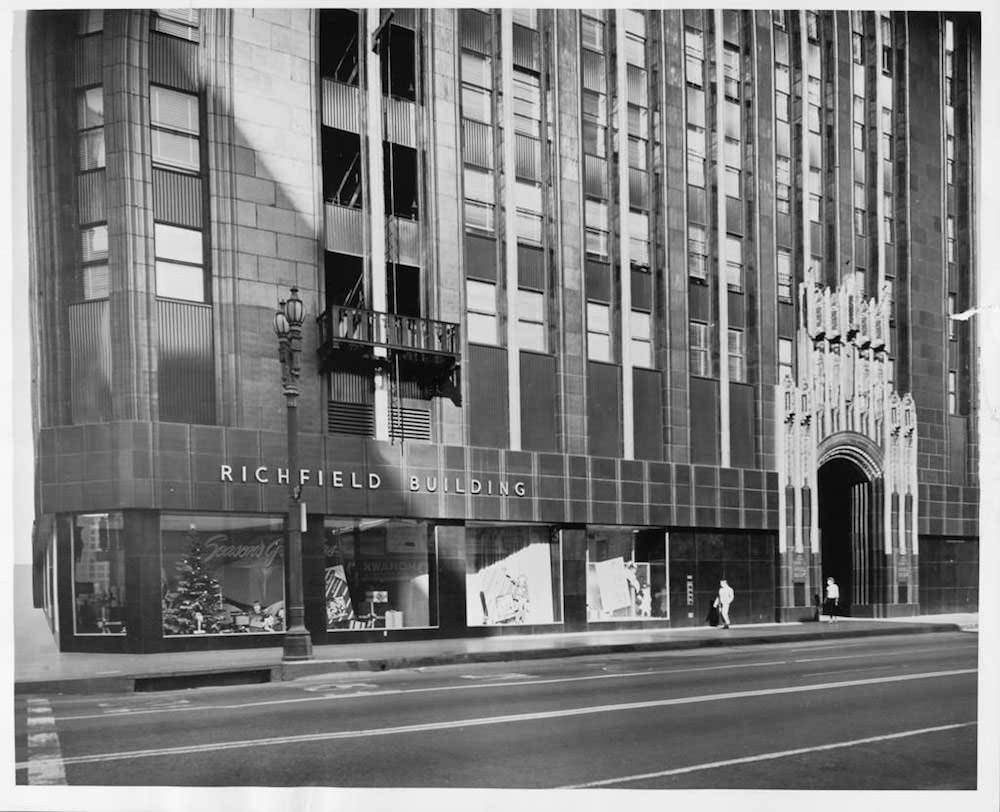 Richfield Oil Building Entrance